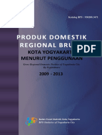 Produk Domestik Regional Bruto Kota Yogyakarta Menurut Penggunaan 2009 2013