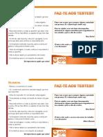 Faz-Te Aos Testes Flyer PDF