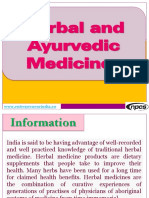 Herbal and Ayurvedic Medicines