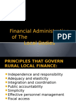 Financial Administration of the Rural Local Bodies