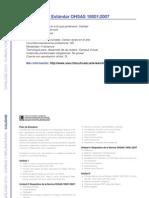 CALIDAD - Introducción al Estándar OHSAS 18001