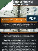 Metode transportasi stepping stone
