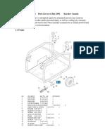 HDS 801B Parts List