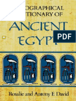 Egypt - A Biographical Dictionary of Ancient Egypt