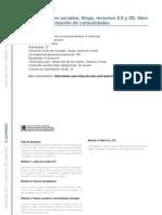 E-LEARNING -  Gestión de redes sociales blogs recursos 2.0 y 3D. Identidad