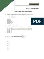 Taller Ejercitación N° 2 Números Racionales, Irracionales y Reales.pdf