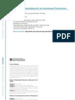 FINANZAS - Programa de especialización en Inversiones Financieras