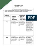 lesson 2 assessment grid subtraction