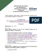 Conferenza europea della manifattura additiva e della stampa 3D