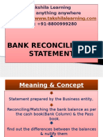 BRS (Bank Reconciliation Statement)