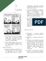 Discourse Analysis HANDOUTS
