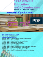 PSY 240 GENIUS Education Expert/psy240genius.com