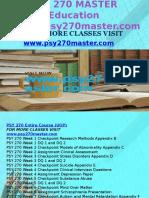 PSY 270 MASTER Education Expert/psy270master.com