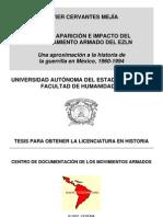 Raíces, aparición e impacto del levantamiento armado del EZLN. Una aproximación a la historia de la guerrilla en México, 1960-1994.