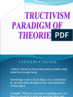 Constructivism Paradigm of Theories