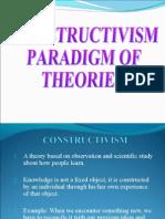 Constructivism Paradigm of Theories