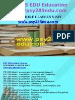 PSY 285 EDU Education Expert/psy285edu.com