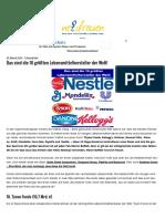 Das Sind Die 10 Grössten Lebensmittelhersteller Der Welt_Die Grössten Eigentümer Von Essenslieferungen_20160524
