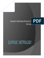 Surface Metrology