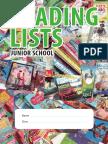 Junior School Reading Lists