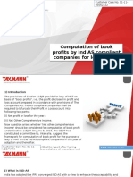 Computation of Book Profits by Ind as Compliant Companies for Levy of MAT