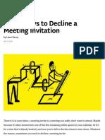 Polite Ways to Decline a Meeting Invitation