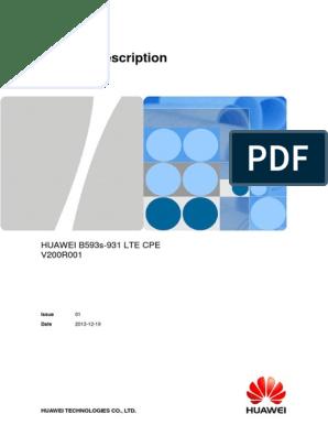 LTE CPE Product Description B593s-931 01 Engilsh | High
