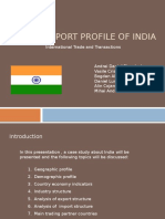 Import-Export Profile of India