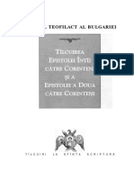 Teofilact Al Bulgariei I II Corinteni
