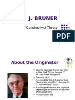 Constructivist Theory by J. Bruner