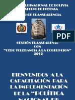 1ra. Capacitacion - Gestion Transparente Con Cero Tolerancia a La Corrupcion - 2012 0