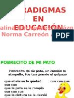 Paradigmas en Educacion