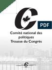 Résolutions politiques pour le congrès du Parti conservateur