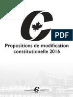 Propositions de modification constitutionelle 2016