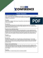 Unconference Session Descriptions 2016 Revised