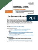 perfmance assessment pd