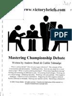 Mastering Championship Debate