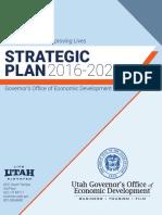 Utah Economic Development, Strategic Plan 2016-2020