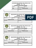 Borang Tukar Pemain Mssk Kedah 2016