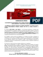 Comunicado de Prensa 15 Mayo