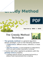 Greedy Method Report NHOEL RESOS