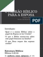 o Padrão Bíblico Para a Esposa