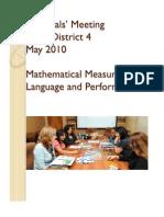 Final May Principals Meeting