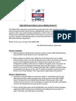THE BUFFALO BILLS 2016 MEDIA POLICY