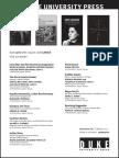 Duke University Press program ad for the Latin American Studies Association conference 2016