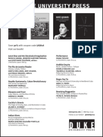 Duke University Press program ad for the Latin American Studies Association conference 2016
