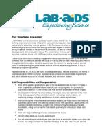 LAB-AIDS Part Time Job Description