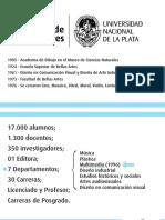 Grade curricular do curso de Multimedia da Faculdade de Belas Artes de Buenos Aires