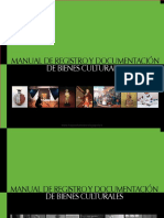 Manual Registro y Documentación de Bienes Culturales