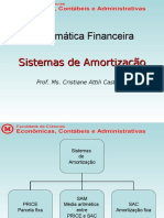 Mat Financ - Aula 9 Sistemas de Amortizacao